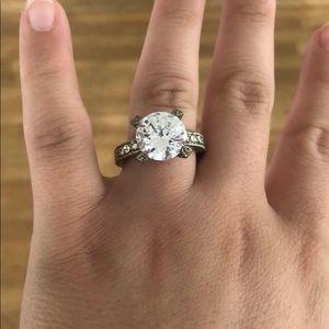 Large Fake Engagement Ring Size 10